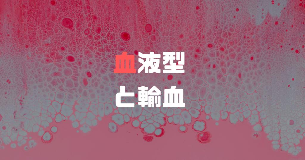 血液型と輸血について解説